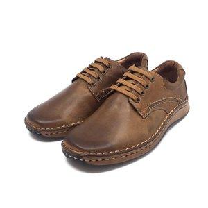 Pantofi casual din piele naturala Leofex - 918 Cognac Box