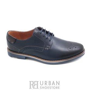 Pantofi casual barbati din piele naturala, Leofex - 843 blue box