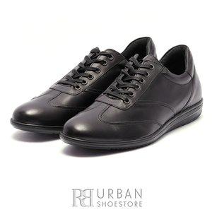 Pantofi casual/sport barbati din piele naturala, Leofex - 534 Negru Box