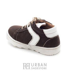 Pantofi copii  din piele intoarsa – 128-1 maro alb