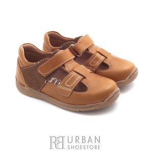 Pantofi copii  din piele naturala – 120-2 camel box