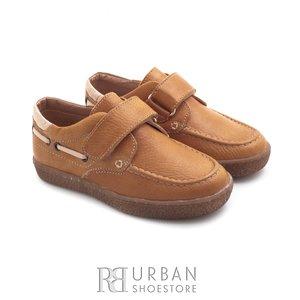 Pantofi copii din piele naturala – 122-1  camel box