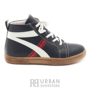 Pantofi copii din piele naturala, Leofex – 104 blue box
