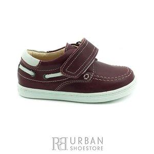 Pantofi copii din piele naturala, Leofex – 122 visiniu box