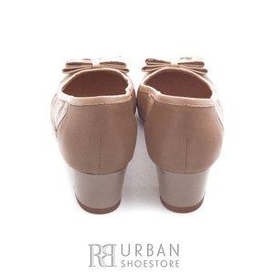 Pantofi dama casual din piele naturala - 563 bej+flori