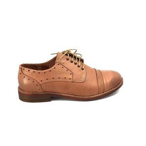 Pantofi casual dama din piele naturala, Leofex - 094 Capuccino