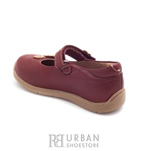 Pantofi fetite din piele naturala – 129-f-1 bordo box