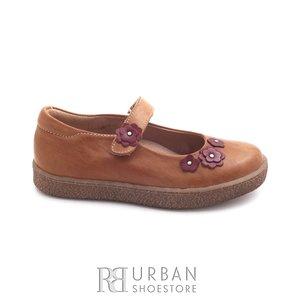 Pantofi fetite din piele naturala – 129-f camel box