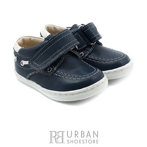 Pantofi din piele naturala box, pentru copii – 122 albastru