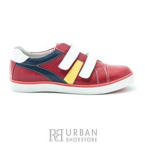 Pantofi din piele naturala box, pentru copii – 126 rosu