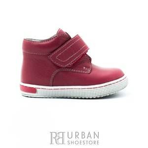 Pantofi din piele naturala box, pentru fete – 123 roz