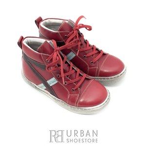 Pantofi din piele naturala box pentru copii – 104 rosu