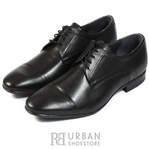 Pantofi eleganti barbati din piele naturala,Leofex - 113 negru box