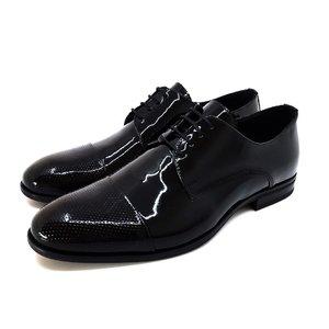 Pantofi eleganti barbati din piele naturala,Leofex- 113 Negru Lac