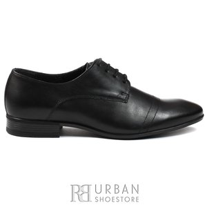 Pantofi eleganti barbati din piele naturala,Leofex - 119 negru box