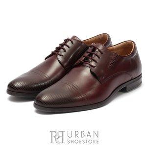 Pantofi eleganti barbati din piele naturala, Leofex - 522  Visiniu box