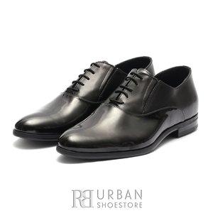 Pantofi eleganti barbati din piele naturala,Leofex - 526 Negru Lac