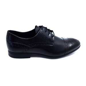 Pantofi eleganti barbati din piele naturala,Leofex - 537-2 Negru box