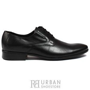 Pantofi eleganti barbati din piele naturala,Leofex - 690 negru box