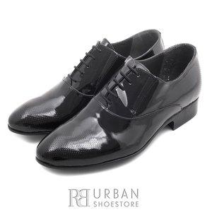 Pantofi eleganti  barbati din piele naturala, Leofex - 744 negru lac