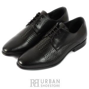Pantofi eleganti barbati din piele naturala,Leofex - 823 negru box