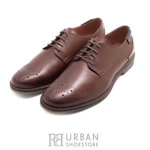 Pantofi eleganti barbati din piele naturala,Leofex - 843 cognac box