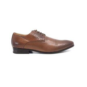 Pantofi eleganti  barbati din piele naturala, Leofex - 888 cognac box