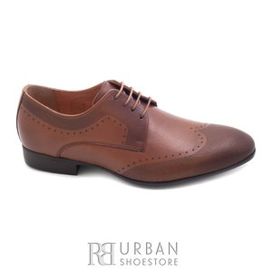 Pantofi eleganti barbati din piele naturala, Leofex - 889 cognac box
