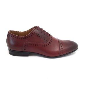 Pantofi eleganti barbati din piele naturala, Leofex - 890 visiniu box
