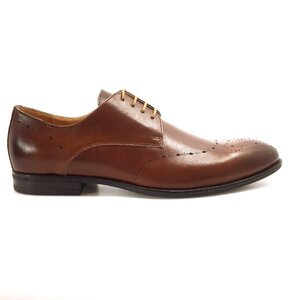 Pantofi eleganti barbati din piele naturala, Leofex - 898 Maro box