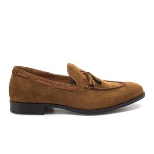 Pantofi eleganti barbati din piele naturala, Leofex - Mostra 588-1 cognac velur