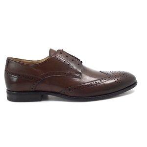 Pantofi eleganti barbati din piele naturala, Leofex - Mostra Beny 1 Red Wood Box