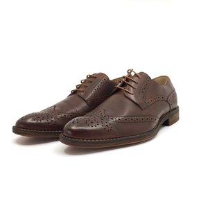 Pantofi eleganti barbati din piele naturala, Leofex - Mostra Beny 2 Mogano box