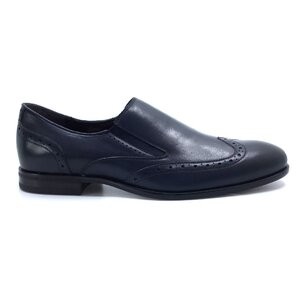 Pantofi eleganti barbati din piele naturala, Leofex - Mostra Patrik blue nedefinit