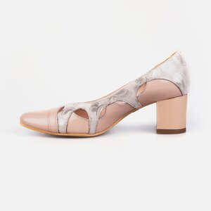 Pantofi  eleganti dama din piele naturala - 182 Nude lac