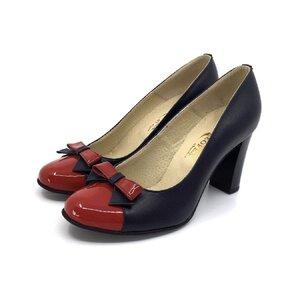 Pantofi eleganti dama din piele naturala  - 556 Blue Rosu