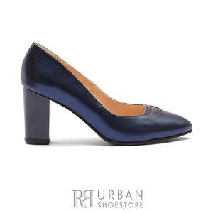 Pantofi eleganti dama din piele naturala, Leofex- 844 Blue Box Sidefat