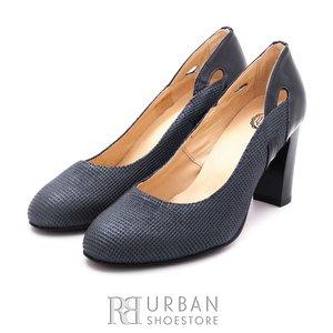 Pantofi eleganti dama din piele naturala  - 0835-2 blue