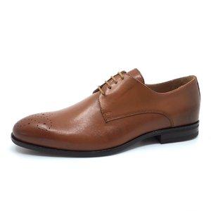 Pantofi eleganti barbati din piele naturala, Leofex - 898 Cognac box