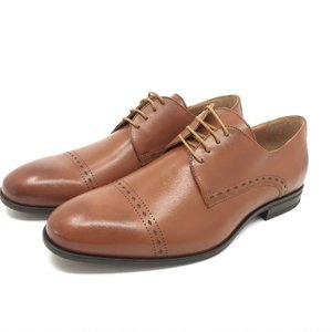 Pantofi eleganti barbati din piele naturala,Leofex - 931 Cognac Box