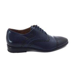 Pantofi eleganti barbati din piele naturala, Leofex - 748 Blue box