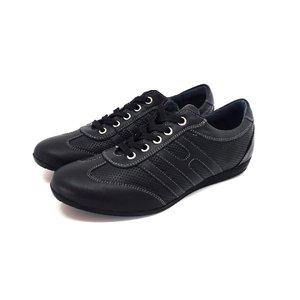 Pantofi sport barbati din piele naturala, Leofex - 552 Negru Box