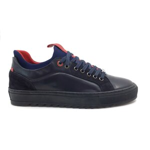 Pantofi sport barbati din piele naturala, Leofex - 619-1 blue box