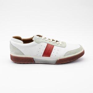 Pantofi sport barbati din piele naturala, Leofex - 619 Alb box