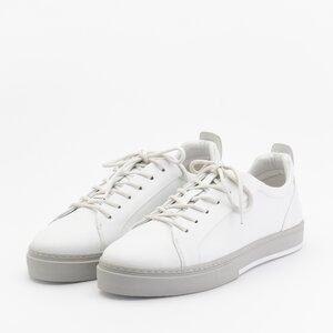 Pantofi sport barbati din piele naturala Leofex -882 Alb Neon Box