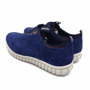 Pantofi sport barbati din piele naturala, Leofex - 942 Marine Velur