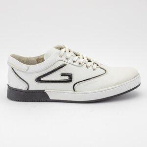 Pantofi sport barbati din piele naturala, Leofex - Mostra Florin  alb box