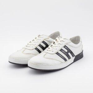 Pantofi sport barbati din piele naturala, Leofex - Mostra Tommy alb box