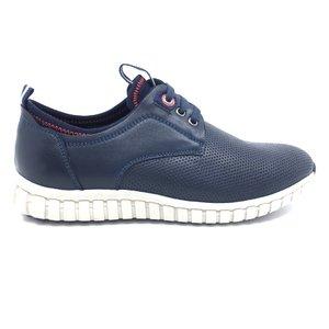 Pantofi sport barbati din piele naturala, Leofex - 942  blue box