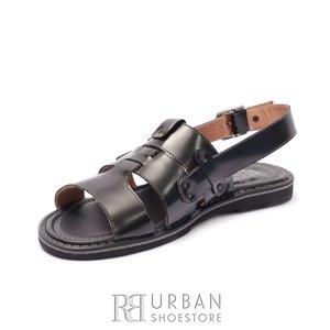 Sandale barbati din piele naturala, Leofex - 944 Negru Box